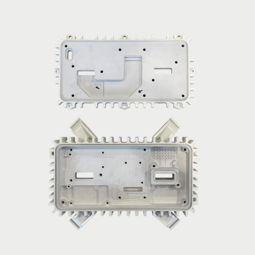 Aluminium die-casting with thermal gel dispensing
