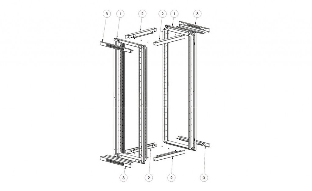19'' Rack cabinet ALPI Series