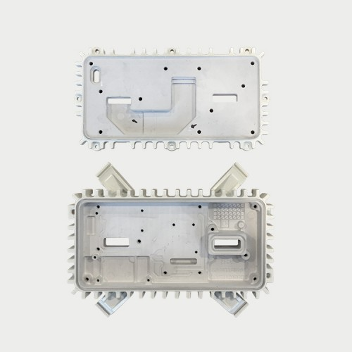Aluminium die-casting with thermal gel dispensing